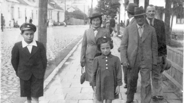 Mikhal Dekel's father, Hannan, far left, one of the Tehran Children. (Photo by: Estate of Rivka Benyamini)