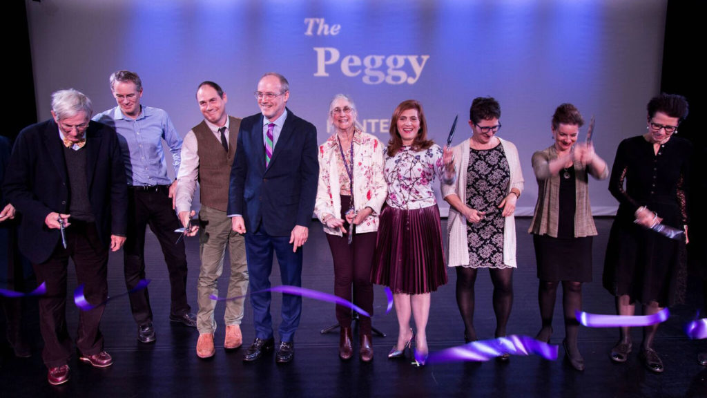 the peggy ribbon cutting