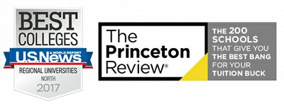 US News and The Princeton Review logos